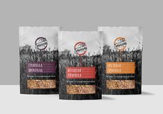 Logo and packaging design for Granola on Behance