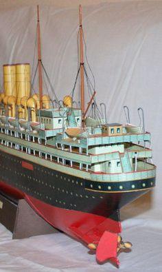 Titanic Ship, Rms Titanic, Titanic Model, Magic Store, Paper Magic, Paper Ship, Paper Models, Model Ships, Art Model