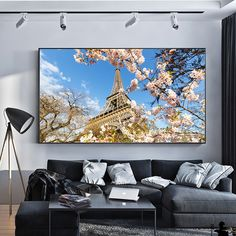 """""""Romantic City Paris Eiffel Tower Landscape Oil Canvas Painting Posters Prints Wall Art Picture for Living Room Home Decor Cuadro"""" Love Wall Art, Modern Wall Art, Living Room Pictures, Wall Art Pictures, Large Art Prints, Wall Art Prints, Oil Painting Abstract, Diy Painting, Paris City"""