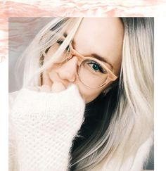 Fade Eyeglasses - RFLKT Eyewear Pink mood, pastel, clear glasses, womens fashion, blonde hair