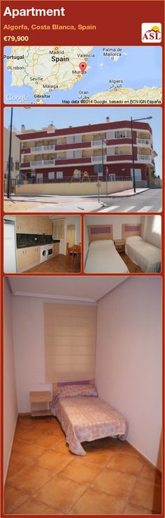 Apartment for Sale in Algorfa, Costa Blanca, Spain - A Spanish Life Oven And Hob, Stainless Steel Sinks, Apartments For Sale, Wood Cabinets, Ground Floor, Cupboard, Swimming Pools, Spain, Flooring