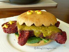 Vegan Halloween Burger