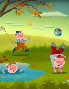 Three Little Pigs by Saturn Animation Studios Fairy Tales For Kids, Three Little Pigs, Educational Games, Bedtime Stories, Stories For Kids, Invite Your Friends, Your Child, Third, Pony
