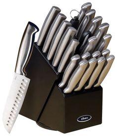 Oster - Baldwyn 22-Piece Knife Set - Stainless-Steel, 91581988M