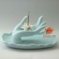 Well known Longquan Celado incense holder. Handmade buddhist ceramic burners.16x11x7.5cm.Incense stick cone coil burner holder.-in Incense &...