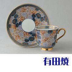 有田焼弥左衛門窯コーヒーカップ寒菊
