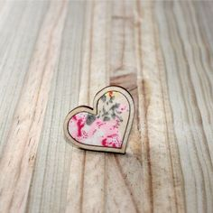 Kosbaar | Heart Ring | Timber & fabric inlay | Natural background with pale pink floral pattern | Handmade in Cape Town, South Africa Vintage Crockery, Natural Background, Porcelain Jewelry, Upcycled Vintage, Cape Town, Pale Pink, South Africa, Heart Ring, Handmade Jewelry