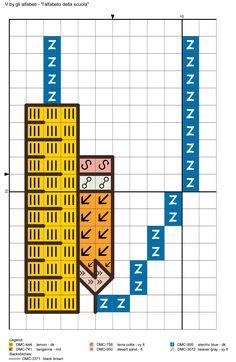 alfabeto della scuola V