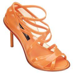 John Paul Gautier open toe shoe in apricot