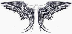 Feather Tattoo Design, Wing Tattoo Designs, Angel Tattoo Designs, Feather Tattoos, Tribal Tattoos, Body Art Tattoos, Celtic Tattoos, Wing Tattoos On Back, Wing Tattoo Men