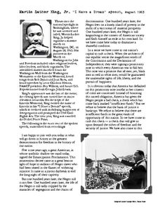 This is a great FREE activity to share with your students in celebration of Dr. King's life and dream.