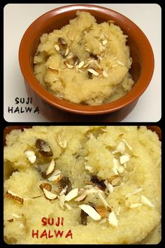 Suji Halwa/Semolina Halwa, is usually made with wheat semolina, sugar, and ghee or butter or vegetable oil. Raisins, dates, other dried fruits, or nuts such as almonds or pistachios are often added to semolina halva. #halwa #halva #sweet #sweetdish #indian #yummy #delicious #semolina #suji #sooji #rava #indisch #tasty #homemade #recipe #lecker #hausgemacht #easyrecipe #dessert #indiandessert #Süssigkeit #süss #cooking #vegetarian #vegetarisch #vegan Pistachios, Almonds, Indian Desserts, Raisin, Dates, Vegan Recipes, Good Food, Easy Meals, Butter