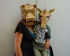 more cardboard masks..