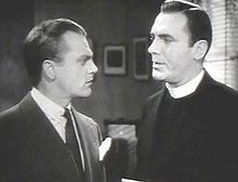 Cagney with his pal Pat O'Brien in Angels with Dirty Faces (1938), the sixth of nine feature films they would make together.