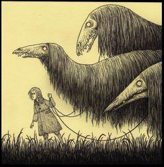Featured Artist John Kenn Mortensen: Dark And Darker - Metal Art Creepy Drawings, Dark Art Drawings, Monster Drawing, Monster Art, Arte Horror, Horror Art, Monster Illustration, Illustration Art, Horror Drawing
