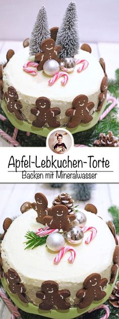 For me, this apple gingerbread cake is the focus at Christmas! The nice thing, I baked this Christmas cake with mineral water. It is easy to bake and wonderfully fruity, light and fluffy on the inside. Sweet Bakery, Gingerbread Cake, Cupcakes, Chef Recipes, Christmas Cookies, All You Need Is, Christmas Time, Delish, Desserts