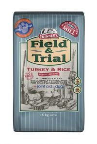 £26.96 - Field & Trial Turkey & Rice is exclusively formulated to include joint aid for dogs at a daily maintenance level. Joint aid for dogs provides complementary nutritional support for all dogs and can help maintain healthy digestion and freedom of movement in one complete feed.