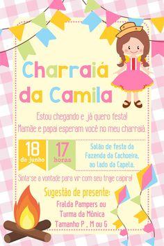 arte convite digital charraia no Elo7 | Blue Bird (952D94) Maria Clara, Alice, Scrapbook, Invitations, Party, Diy, Chloe, Baby Shower Centerpieces, Appetizers For Party