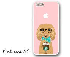 iPhone 6/ 6S/ 6plus/ 6S plus, iPhone 5/ 5S/ 5C, iPhone 4/ 4S, iPhone SE - I love Starbucks - Long haired Dachshund - English Cream