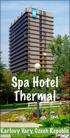 The Spa Hotel Thermal in Karlovy Vary, Czech Republic has a fascinating history and is a prime example of Socialist Brutalist Architecture.