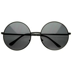 zeroUV Super Large Oversized Metal Round Circle Sunglasses ($9.99) ❤ liked on Polyvore featuring accessories, eyewear, sunglasses, over sized sunglasses, round circle sunglasses, circular glasses, metal glasses and round sunglasses