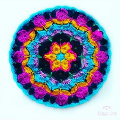 Set Free My Gypsy Soul | a Crochet Craft blog : Blue Hawaii African Flower Mandala | Free Crochet Pattern