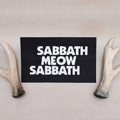Patch Sew On Sabbath Meow Sabbath