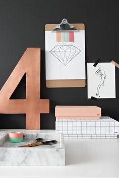 Decorating with copper--the perfect metallic for fall. (via Design Sponge)