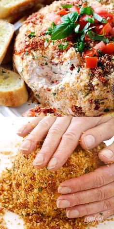 Cheese Ball Super easy Bruschetta Cheese Ball takes just minutes to whip up and is always a total show stopper, make ahead appetizer! Super easy Bruschetta Cheese Ball takes just minutes to whip up and is always a total show stopper, make ahead appetizer! Cheese Ball Recipes, Yummy Appetizers, Cheese Appetizers, Christmas Dinner Ideas Appetizers, Dinner Party Recipes Make Ahead, Party Appetizer Recipes, Fun Dinner Ideas, Snacks For Party, Italian Recipes