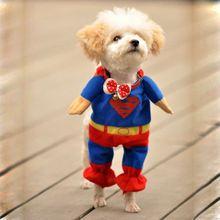 sevimli evcil köpek superman giyim kostümleri elbise köpek tulum giyim sıcak(China (Mainland))