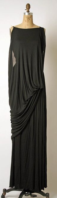 Black Evening Dress, by Madame Gres.