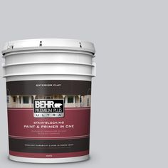 BEHR Premium Plus Ultra 5 gal. #PPU26-16 Hush Flat Exterior Paint