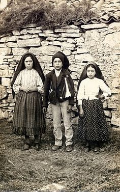 Lucia Santos (left) with her cousins Jacinta Marto and Francisco Marto, the three children of Fatima, to whom Our Lady of Fatima (Virgin Mary) appeared. Fatima has always had a major role in the Catholic Church ever since Virgin Mary was said to have appeared to the three shepherd children in 1917. The children said then that she spoke to them and entrusted them with three prophetic revelations that are now known as the Three Secrets of Fatima.