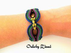 Ozdoby Ziemi: Bransoletka sutasz Bulu Merak Soutache #soutache #sutasz #bracelet #jewelry #HandMadeJewelry #fasion #OzdobyZiemi #HandMade