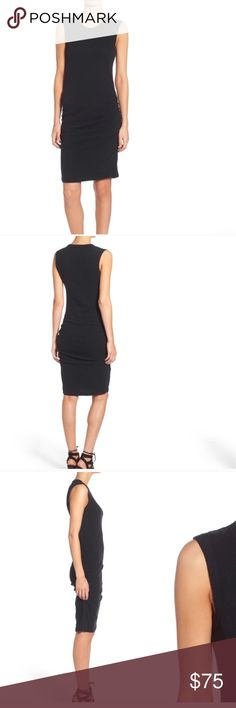 James Perse scooped neck ruched dress Worn once.  Very flattering ruching on the side.  Scooped neck dress. James Perse Dresses