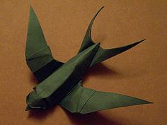 Steps on how to make an origami swallow by Sipho Mabona