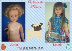 Maison das Bonecas: Restauração da boneca Coleguinha da Estrela dos an...