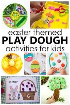 Easter Play Dough Activities with Easter theme play dough invitations and Easter play dough printables for preschoolers and young kids. Fun Indoor Activities, Playdough Activities, Easter Activities, Activities For Kids, Motor Activities, Easter Play, Easter Crafts For Kids, Easter Ideas, Top Toys For Girls