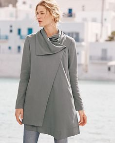 Asymmetrical Draped Coat