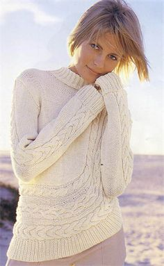 Bergere de France Asymetric Sweater Knitting Pattern