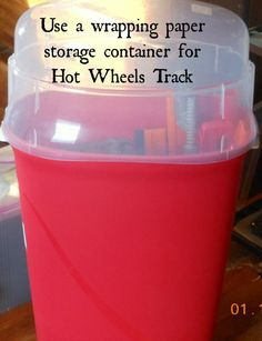 Hot Wheels Track Storage Solution