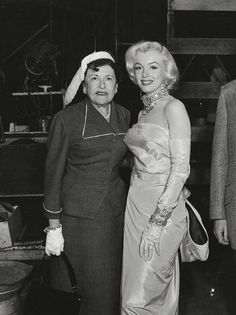 Marilyn Monroe and Louella Parsons