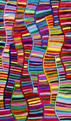 Aboriginal Artwork by RAelene Stevens. Sold through Coolabah Art on eBay. Cataogue ID 15107
