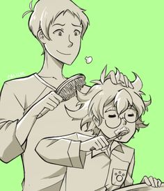 VLD fan art - Pidge and Lance morning routine