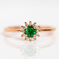 Natural Opal, Natural Emerald, Sunflower Ring, Baguette Ring, Blue Tourmaline, Gold Bands, Jewelry Trends, Solid Gold