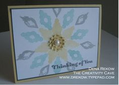 Eye-Catching Ikat, Dena Rekow, Stampin Up, The Creativity Cave, Four You, Occasions Mini Catalog 2014, Boho Flower PUnch