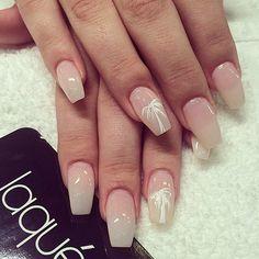 Nude palmtree glossy nails #laquenailbar #getlaqued by laquenailbar http://ift.tt/1nIbYsK