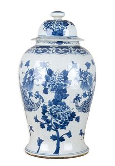 Blue and White Flower Design Porcelain Temple Jar Blue And White China, Blue China, Love Blue, Chinoiserie, Dining Room Blue, Enchanted Home, Blue Pottery, Blue Quilts, Ceramic Decor