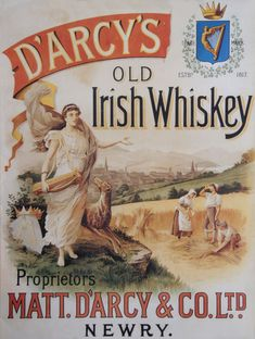 D'Arcy's Old Irish Whiskey Advertisement Poster - Old Irish Posters