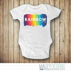 Rainbow Baby Announcement Onesie® - Rainbow Baby Shower Gift - Rainbow Baby Outfit - Pregnancy After Loss - Miracle Baby